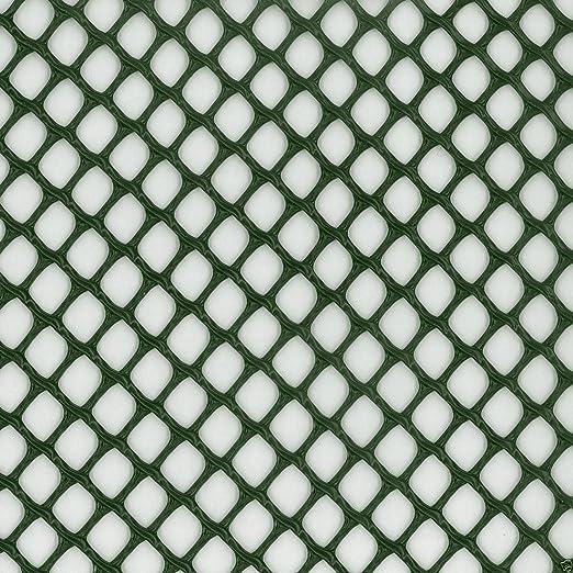 Verde Jardín Malla Rígido resistente cuadrado plástico paisajismo Fencing rollo de 9 mm x 9 mm de malla. Varias Longitudes: Amazon.es: Jardín