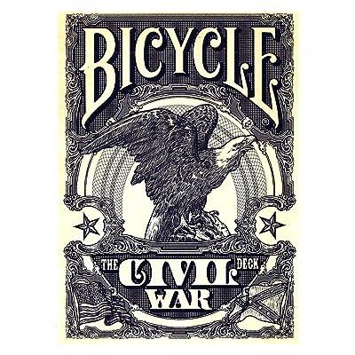 Civil War 2 Decks Bicycle Red & Blue Poker Playing Cards Decks: Toys & Games
