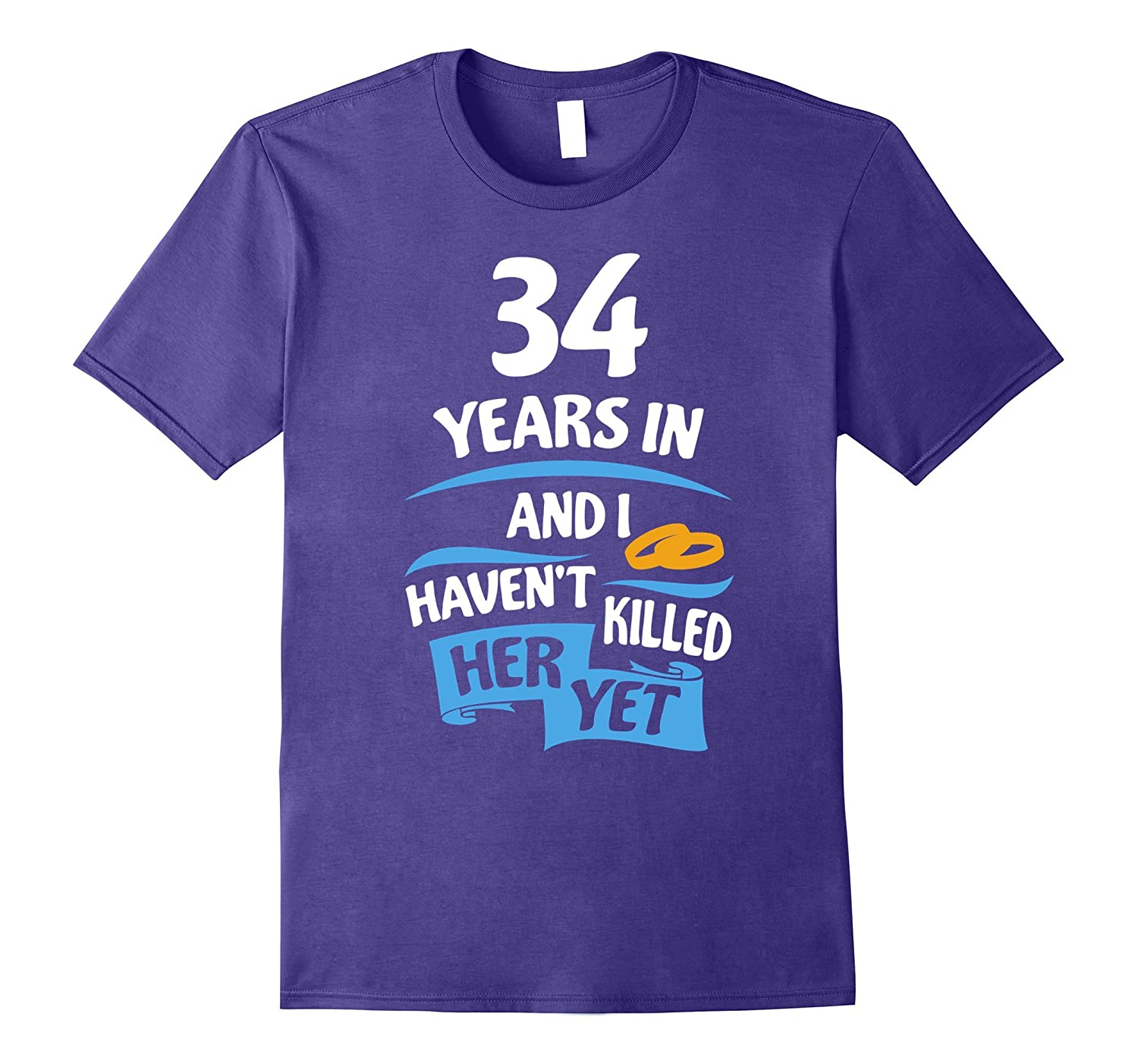 34th Wedding Anniversary Gift For Husband 34 Years Shirt PL
