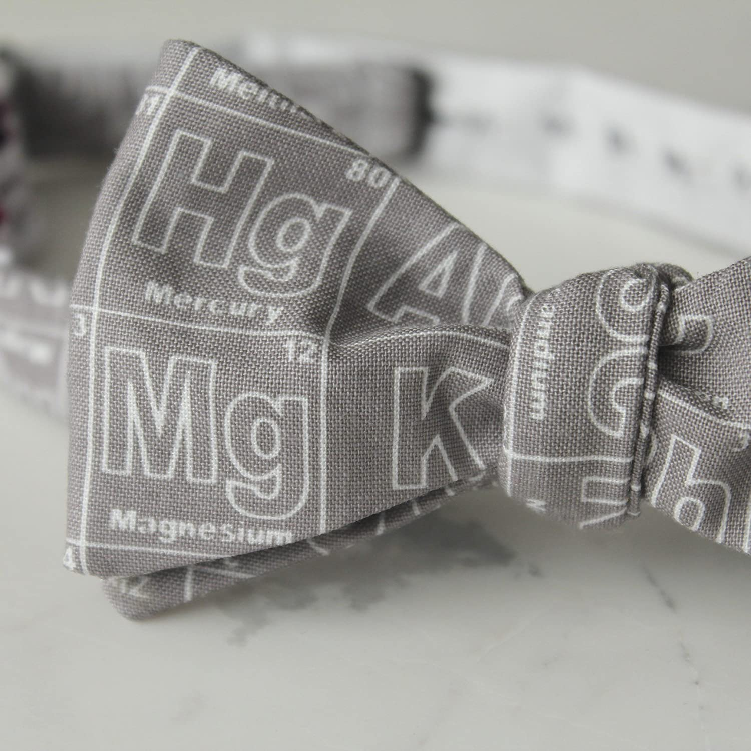 Periodic Table of Elements Bow Tie in Gray