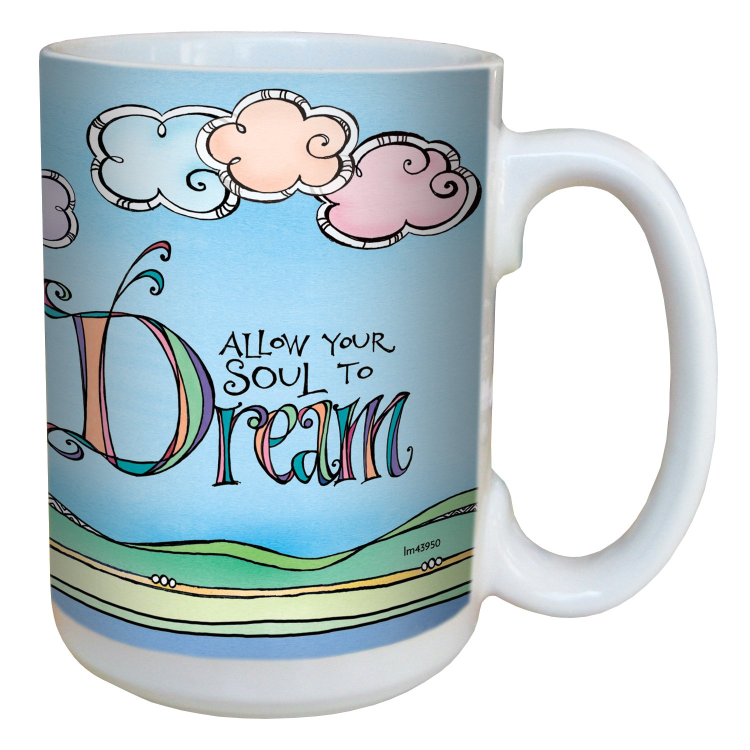 Tree-Free Greetings lm43950 Allow Your Soul by Joanne Fink Ceramic Mug with Full-Sized Handle 15-Ounce