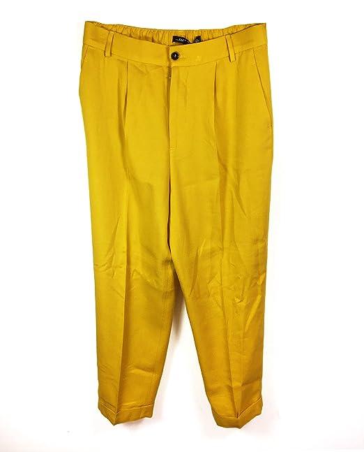 Zara Pantaloni Donna Gelb X Small: Amazon.it: Abbigliamento