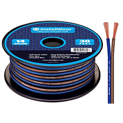 InstallGear 14 Gauge AWG 30ft Speaker Wire True Spec and Soft Touch Cable: Electronics