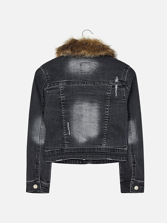 Dark Gray Denim Jacket for Girls 7468 Mayoral