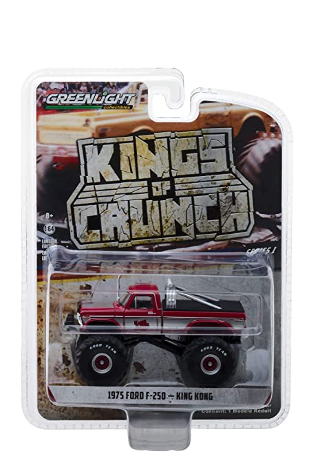 9c91e50b20d Amazon.com: 1975 Ford F-250 King Kong Monster Truck Red with White ...
