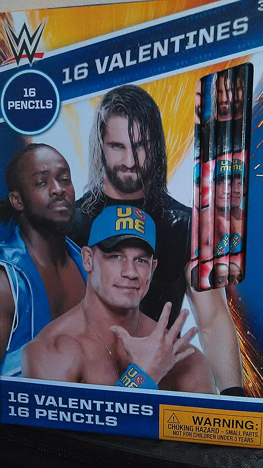 Amazon Wwe Wrestling Valentines Card Bundle 16 Cards With 16