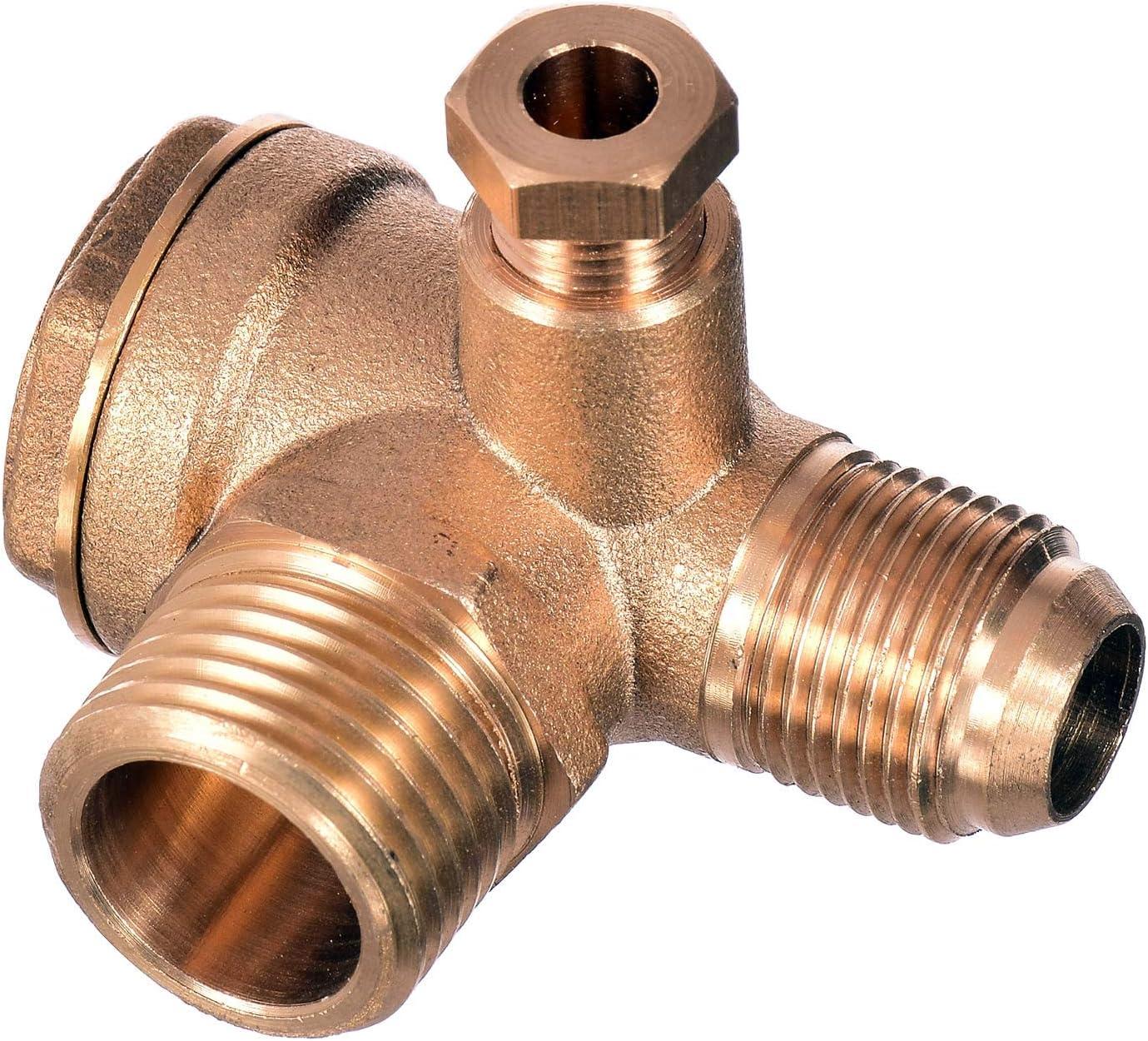 Válvula antirretorno 1/2 x 3/8 (20 mm x 16 mm) compresor de aire ...