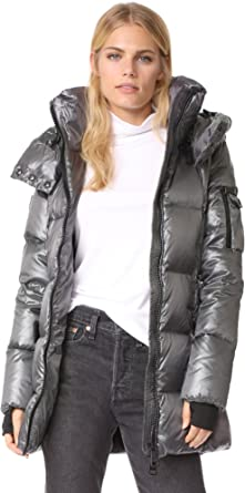 Joe Wenko Mens Slim Puffer Thicken Winter Zip Hooded Parkas Coats Jacket