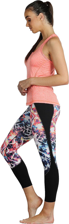 icyzone Camiseta de Fitness Deportiva de Tirantes para Mujer