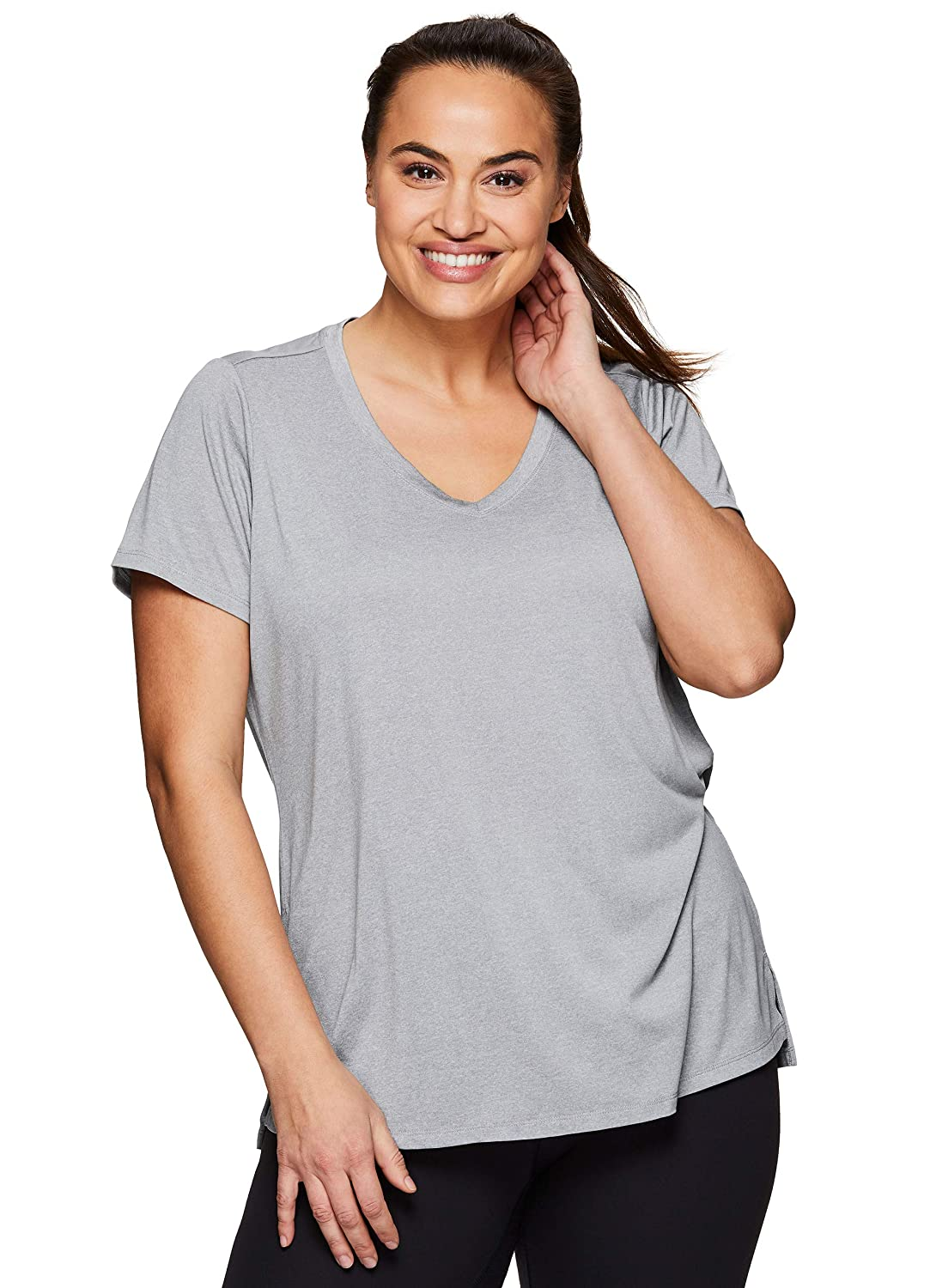 d825344ff5 RBX Active Women's Plus Size Running Workout Short Sleeve Yoga Top at  Amazon Women's Clothing store: