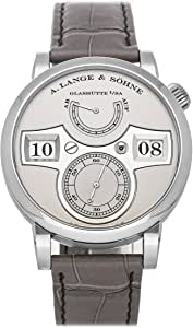 A. Lange & Sohne Zeitwerk Mechanical (Hand-Winding) Silver Dial Mens Watch 140.025 (Pre-Owned)