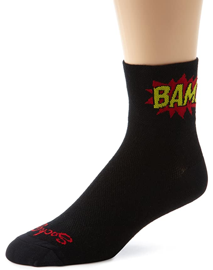 Amazon.com: SockGuy Mens Boom Pow Socks, Black, Sock Size:10-13/Shoe Size: 6-12: Clothing