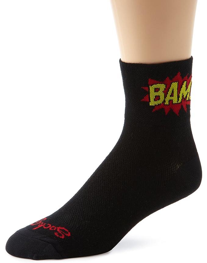 Amazon.com: SockGuy Mens Boom Pow Socks, Black, Sock Size:10-13/Shoe Size: 6-12: Clothing