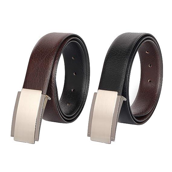Men/'s Black Leather Belt with Brown Trim Size 30 R