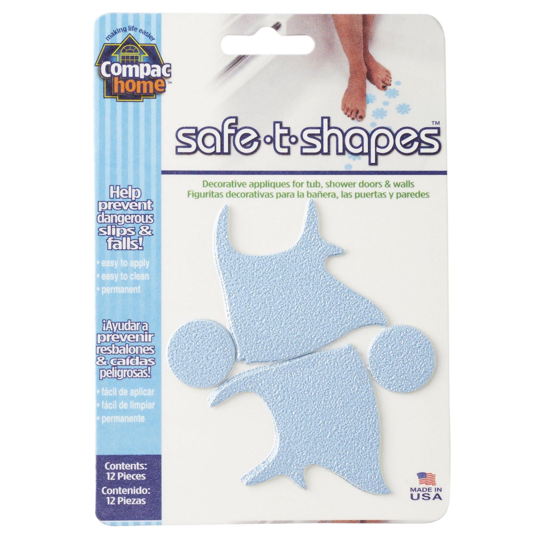 Compac Safe-T-Shapes Bathtub Appliques, Blue Fish, 3 Count