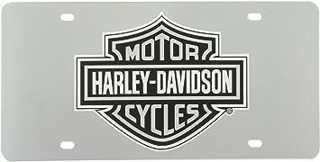 License Plate Shop Harley-Davidson Auto Hitch Plug Black /& White Bar Shield 2287 by Plasticolor