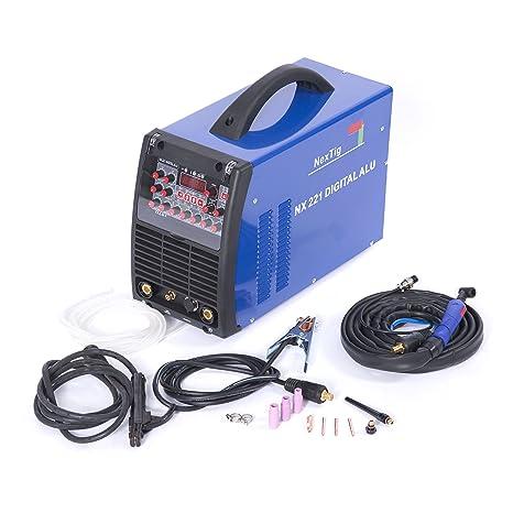 Equipo Inverter para soldadura TIG ACDC 200A Modo de pulsación digital NX