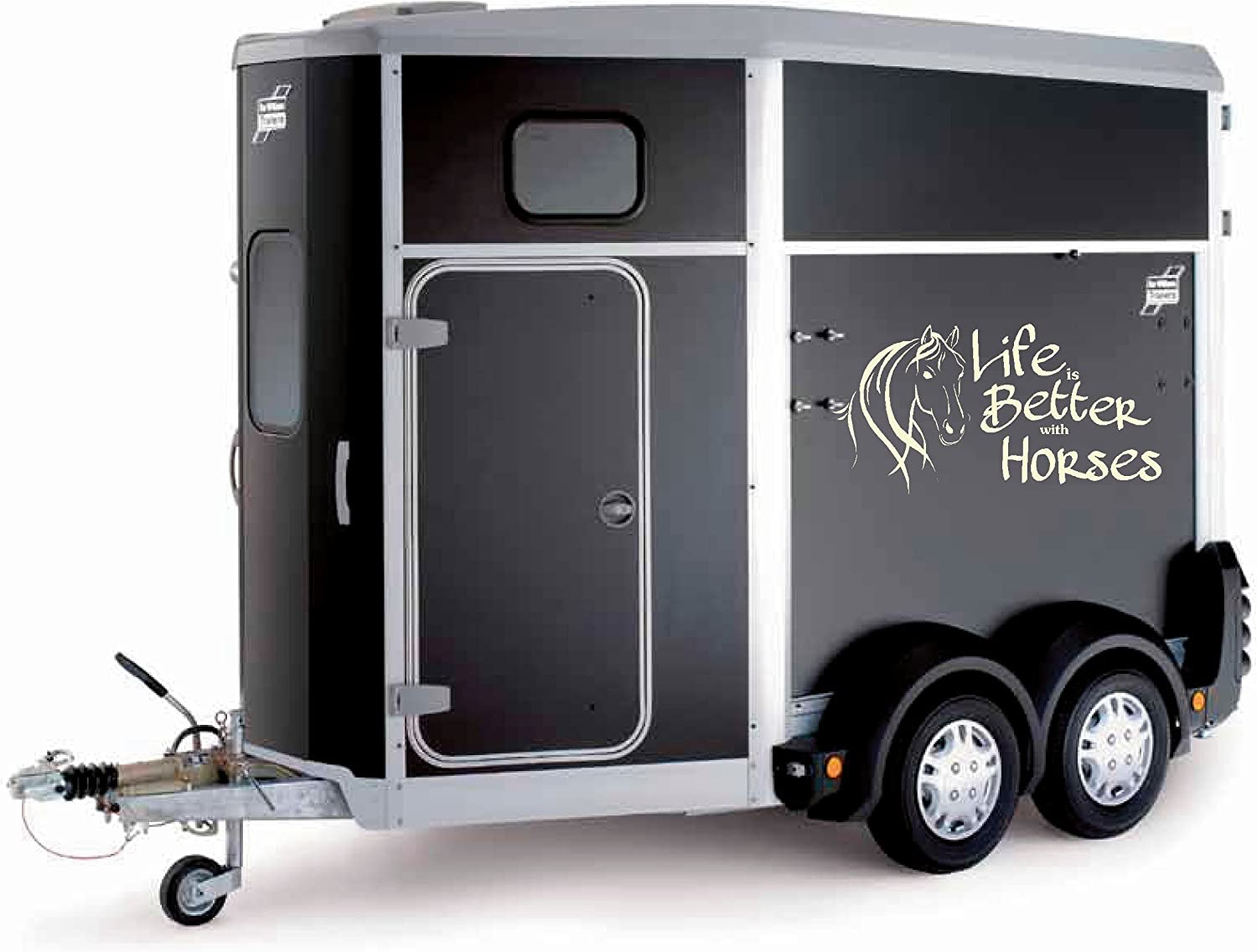 Life Is Better With Horses Trailer Box Truck Sticker Wall Art Decals Large Lsh18 Cream Amazon Co Uk Kitchen Home
