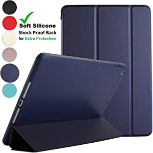DuraSafe Cases for iPad Mini 4-7.9 Inch 2015 [ A1538 A1550 ] Smart Cover with Soft Silicone Back Auto Sleep/Wake : Soft Back - Navy Blue