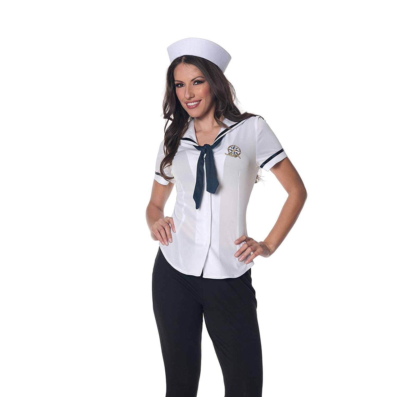 Amazon.com: Underwraps Women's Sailor Fitted Shirt: Clothing