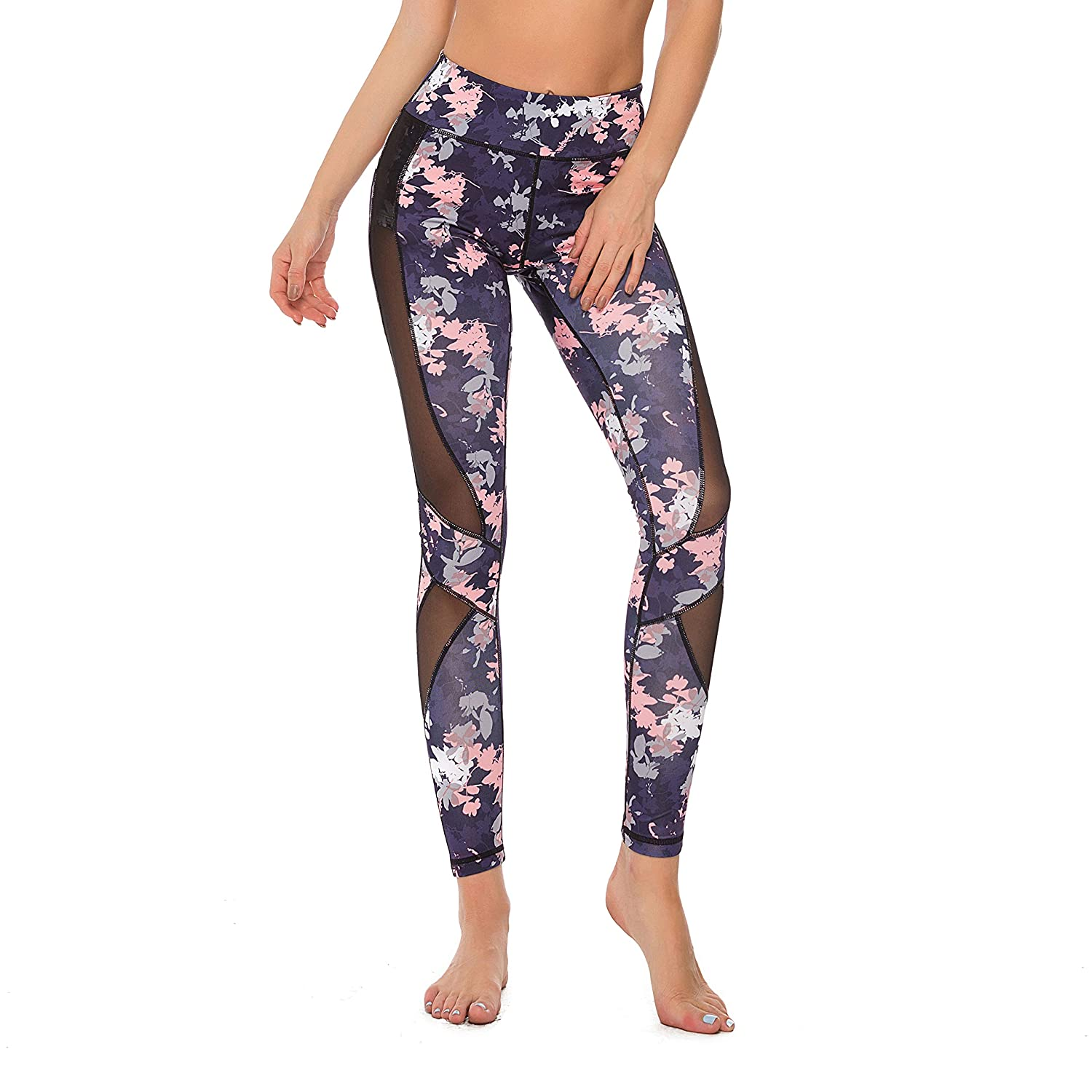 Akilex Yoga Pants with Pockets High Waist Sports Gym Leggings Womens Fitness Workout Athleisure Tights Power Stretch Trousers