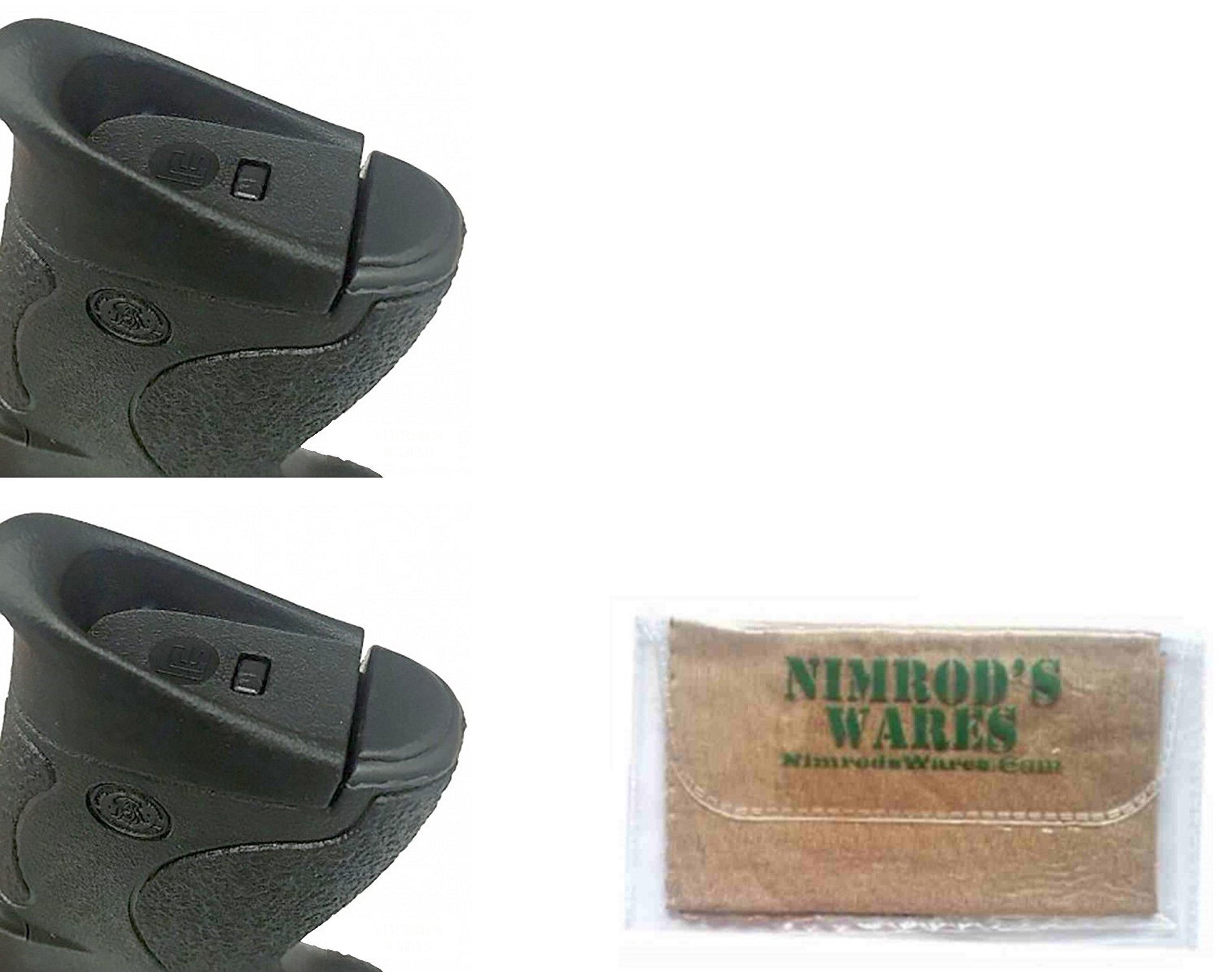 2-Pack Pearce Grip S&W M&P SHIELD Grip Frame INSERT 9mm .40 PG-FIMPS + Nimrod's Wares Microfiber Cloth