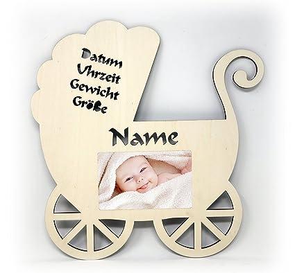 Un cochecito fotos para nacimiento de bebé de madera decorativa Regalo 10 x 15 Individual personalizado