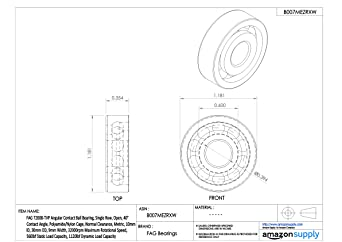 45mm ID FAG 7309B-TVP Angular Contact Ball Bearing 25mm Width 7500rpm Maximum Rotational Speed Open 100mm OD 13400lbf Dynamic Load Capaci Polyamide//Nylon Cage 40/° Contact Angle Normal Clearance Metric 9000lbf Static Load Capacity Single Row