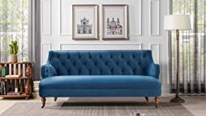 Jennifer Taylor Home Milano Sofa, Legion Blue