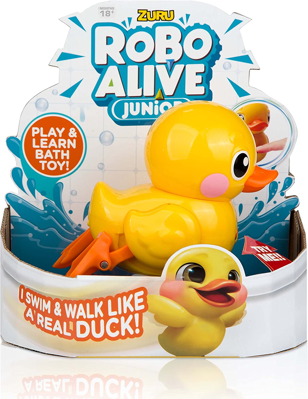 Robo Alive Junior Battery-Powered Baby Duck Bath Toy by ZURU