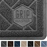 GRIP MASTER Durable Premium Cat Litter Mat, Highly Effective, XL Jumbo, No Phthalate, Water Resistant, Traps Litter from Box and Cats, Scatter Control, Soft on Kitty Paws