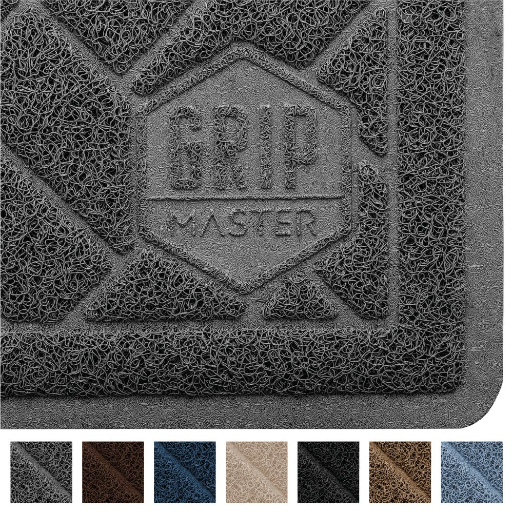 GRIP MASTER Durable Premium Cat Litter Mat, Highly Effective, XL Jumbo, No Phthalate, Water Resistant, Traps Litter from Box and Cats, Scatter Control, Mats Soft on Kitty Paws