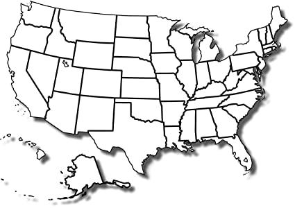 photo regarding Printable Blank Map of Usa called : Household Comforts Laminated Map - Free of charge Printable