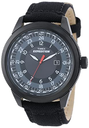 e75e4cd7b20c Amazon.com  Timex Men s T49820DH Expedition Military Classic All-Black Nylon  Strap Watch  Timex  Watches