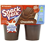 Snack Pack Pudding, Chocolate, 4 Count - 3.25 oz Cups (Pack of 12)