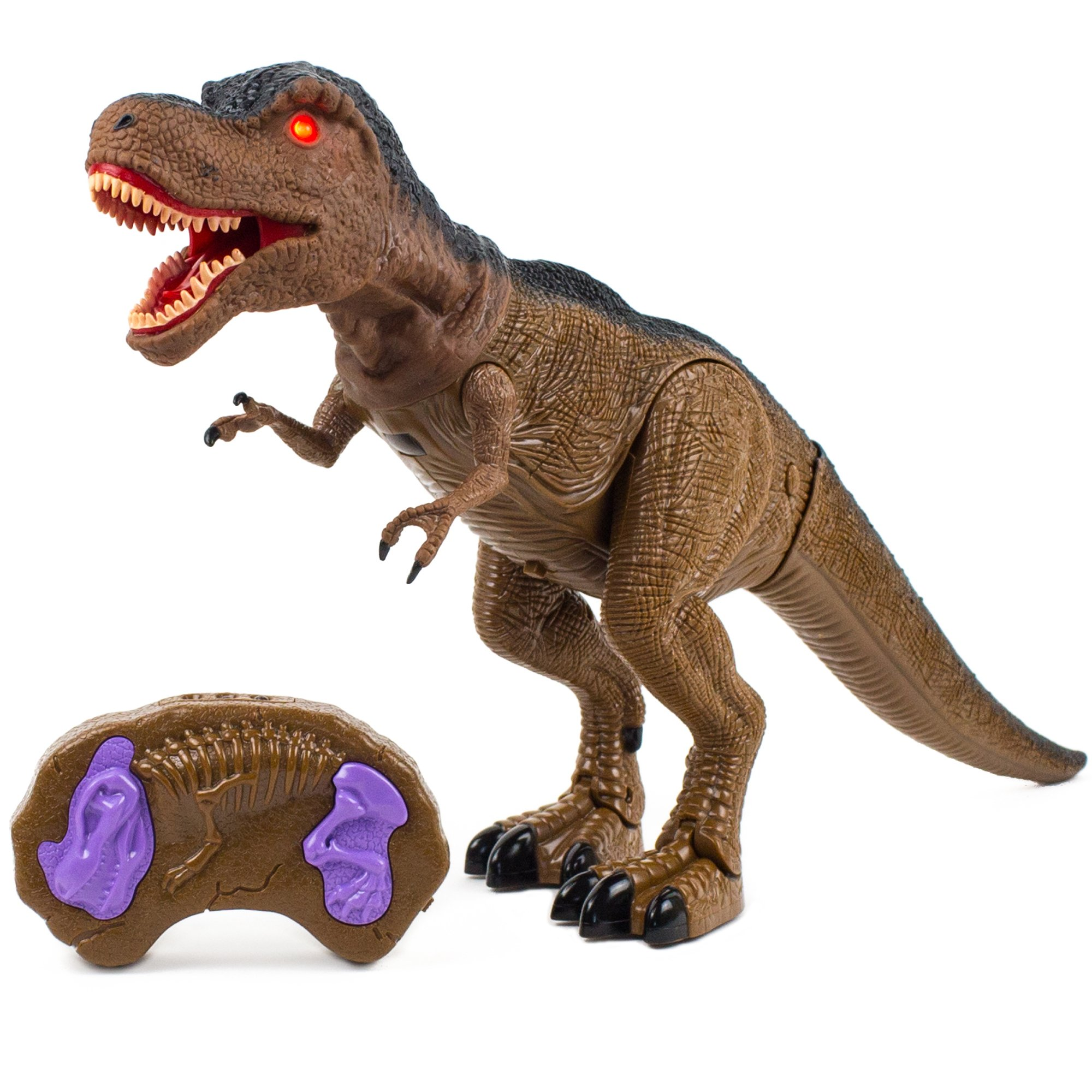 Toysery Jurassic World Dinosaur Toys with Light Up Eyes and Roaring Sound Walking Dinosaur Toy Set for 3-12 Year Boys and Girls - Perfect Remote Control Dinosaur Gifts for Birthdays by Toysery (Image #1)