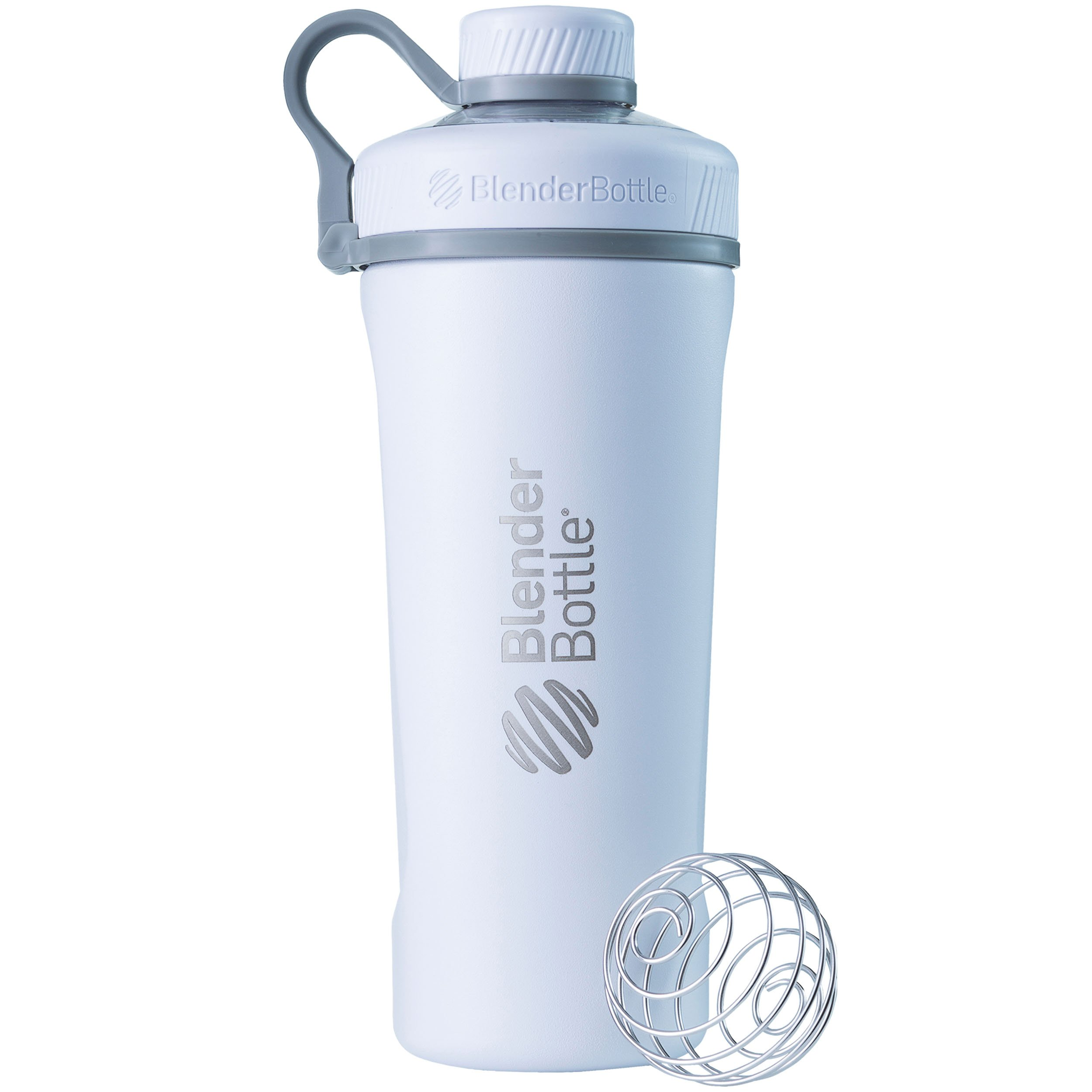 BlenderBottle Radian Insulated Stainless Steel Shaker Bottle, Matte White, 26-Ounce
