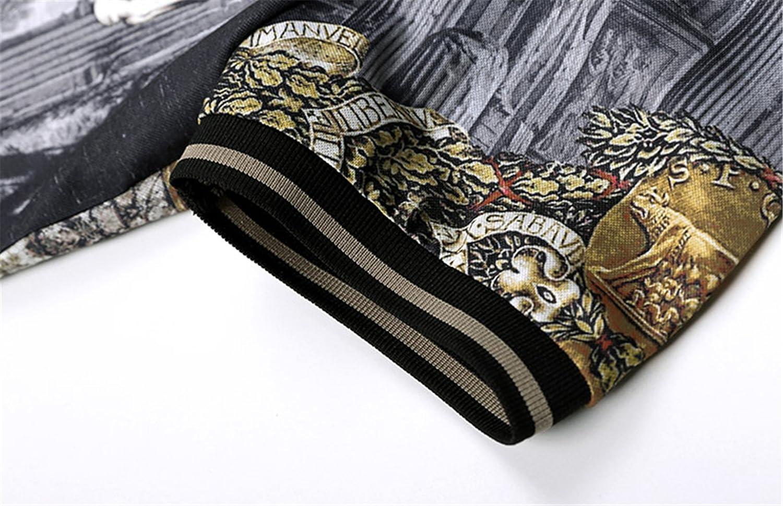 QZH DUAO MEN Short Sleeve Polo Shirts with Floral Print