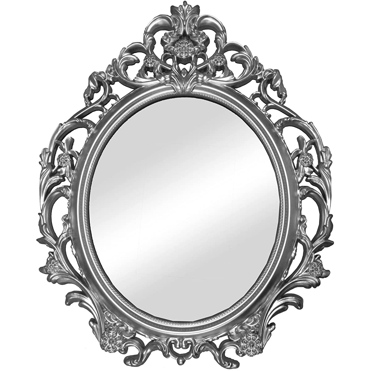 Better Homes and Gardens Baroque Wall Mirror Silver