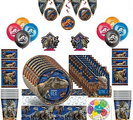 Jurassic World Fallen Kingdom Kit de fiesta de cumpleaños ...