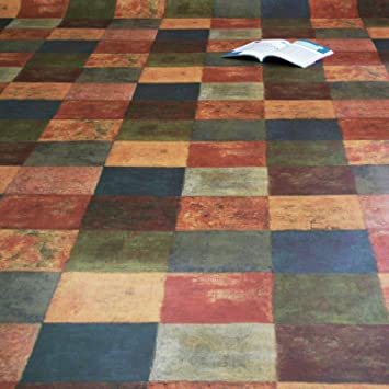 12,95 /€ p. m/² PVC Bodenbelag Latina Multicolor Muster DIN A4