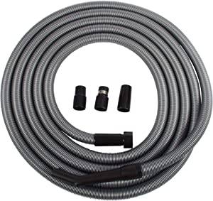 Cen-Tec Systems 95358 30 Foot Extension Hose for Shop and Garage Vacuums, Ft, Silver