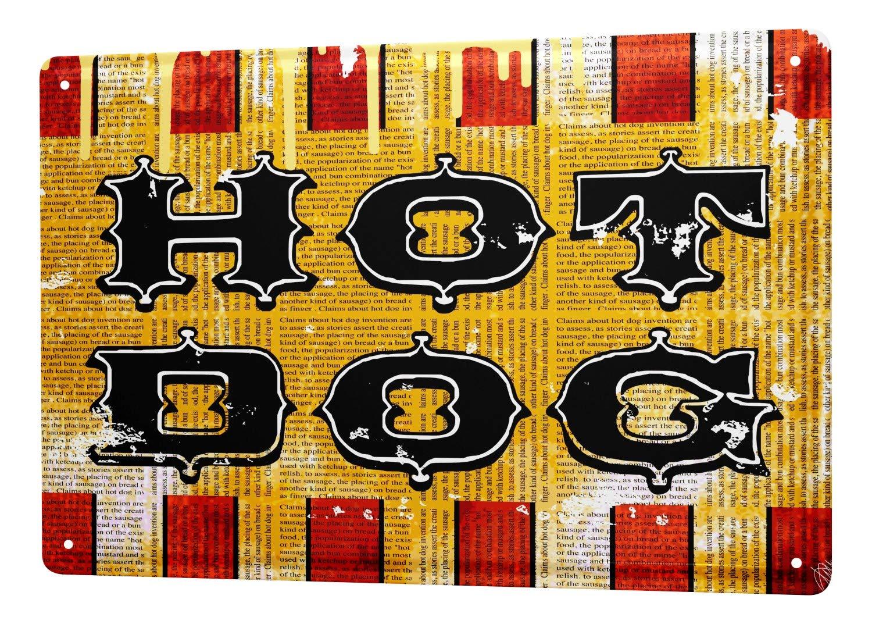 Cartel Letrero de Chapa XXL Trotamundos M.A. Allen hot dog ...