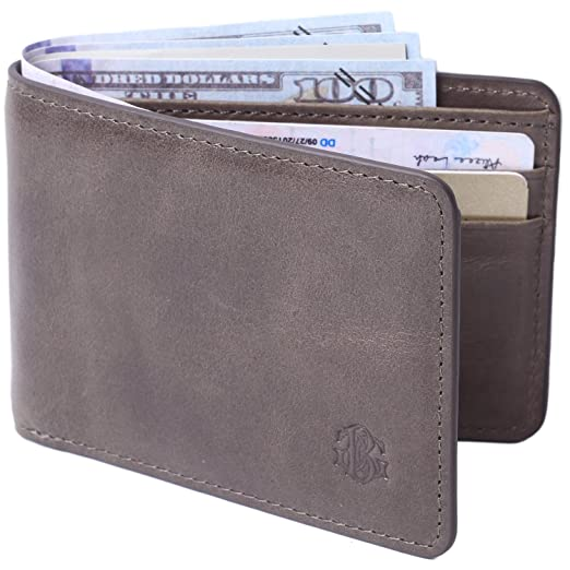 aeee530d15fc Mens Slim Front Pocket Wallet ID Window Card Case with RFID Blocking