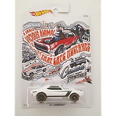 Hot Wheels 50th Anniversary Exclusive Camaro Series 1/10 - '67 Camaro (White): Toys & Games