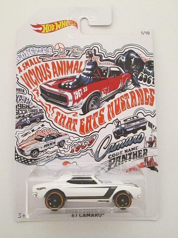 Mattel 2018 Hot Wheels 50th Anniversary Exclusive Camaro Series 1//10-67 Camaro White