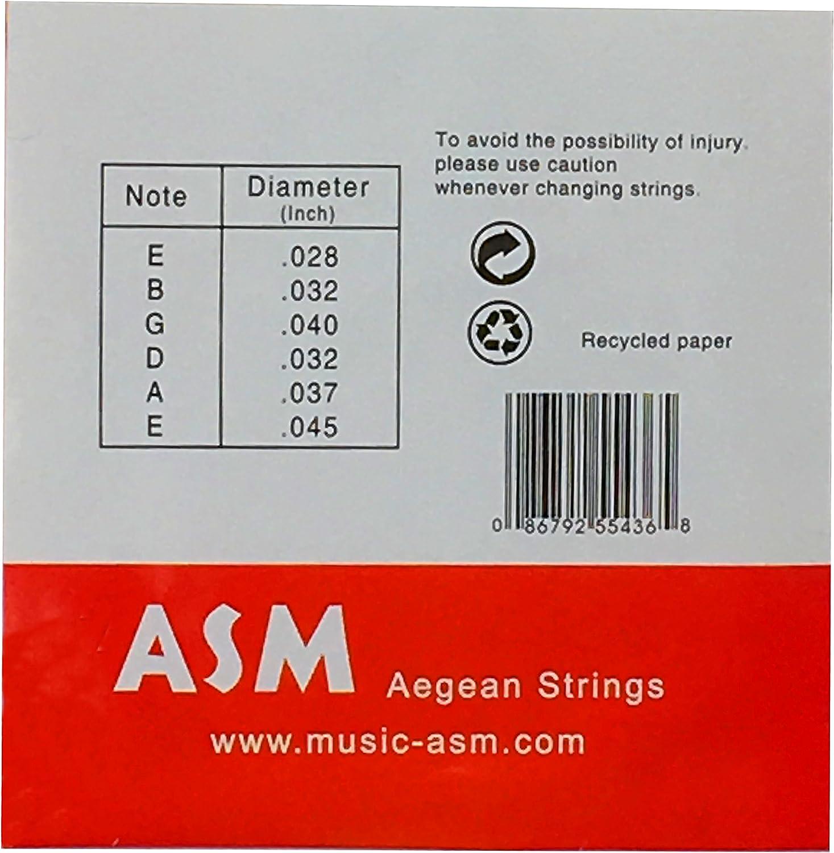 Cuerdas para guitarra española ASM G1106 para guitarra clásica ...