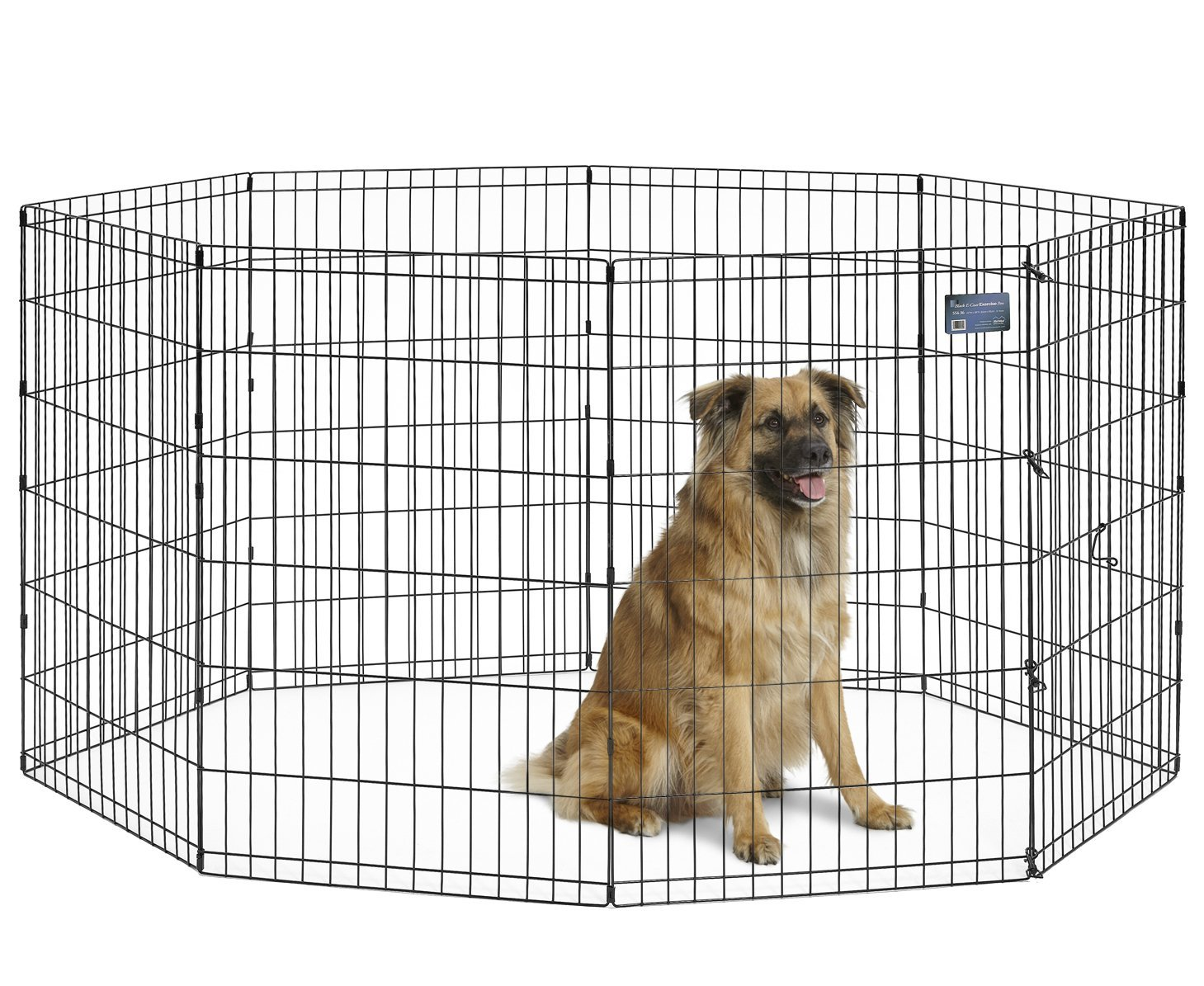 MidWest Exercise Pen Black No Door 36