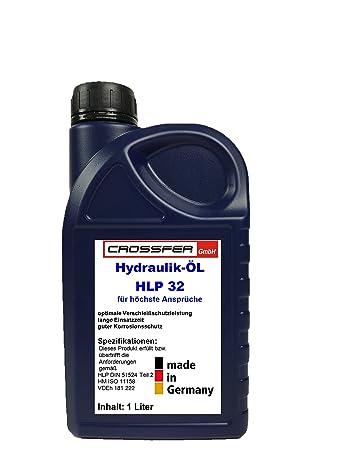 CROSSFER Hydrauliköl HLP32 1 Liter für Hydraulikpressen, Holzspalter, Wagenheber, Hydraulikflüssigkeit Hydraulikfluid 32er Vi