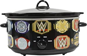 Uncanny Brands WWE Championship Belt 7 QT Slow Cooker- Removable Ceramic Insert Bowl